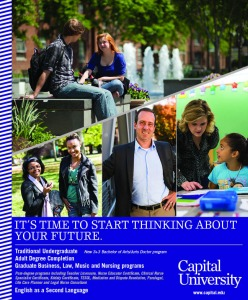 CAPITAL UNIVERSITY (614) ad August 2015